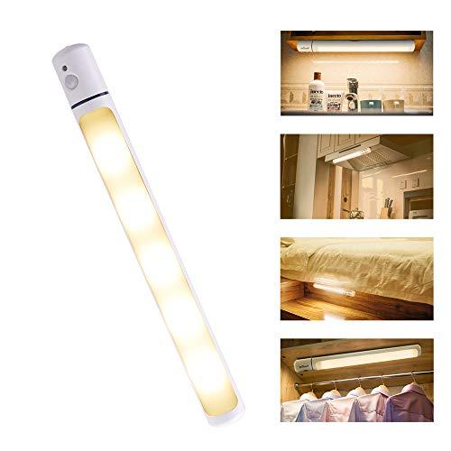 ieGeek センサーライト 人感センサー LEDライト 室内/キャンプ用ライト 省エネ 超寿命 マグネット付き 貼り付け型 調節可能 電池式 停電・災害対応 電球色