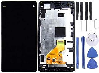 قطع غيار شاشة LCD + لوحة لمس مع إطار لأجزاء إصلاح الهاتف المحمول سوني إكسبيريا Z1 المدمجة