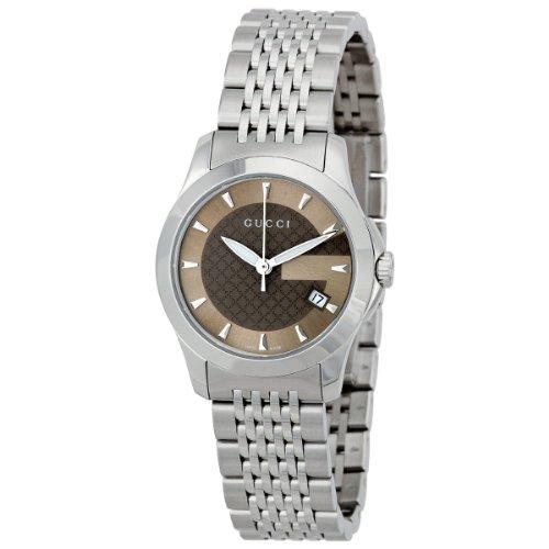 Gucci Damen-Armbanduhr XS G-Timeless Analog Quarz Edelstahl YA126503