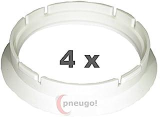 4 x Zentrierringe, Kunststoff 63.3mm auf 57.1mm weiss