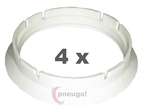 4 x pneugo! Bagues de centrage pour jantes alu 63.3 mm - 57.1 mm