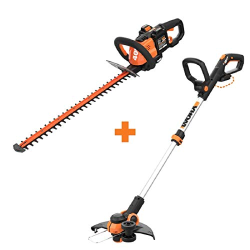 Why Should You Buy WORX WG284 40V Power Share Cordless 24 Hedge Trimmer w/Cordless Grass Trimmer/Ed...