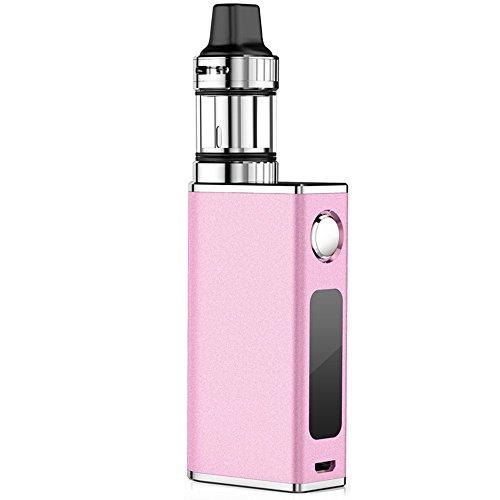 Telckabel E Zigarette 50W Komplett Starterset mit Top Refill Clearamizer 0,3 ohm 4 Luftflussmodus 510er Gewinde e Rauchen, Nikotinfrei (Pink)