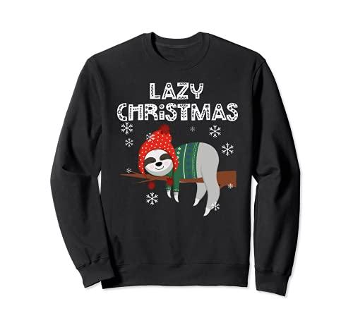 Perezoso Navidad Pijamas Perezosos Perezosos Navidad Sudadera