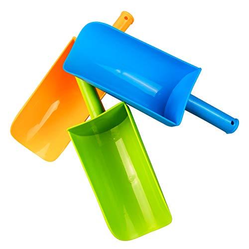 Aokzon Sand Shovels for Kids,Beach Shovels for Kids Heavy Duty,Shovel Beach Short Handled ,Sand Toy Shovel, Sand Shovel Plastic for Shoveling Sand and Snow Beach Shovels for Kids 3 Pack