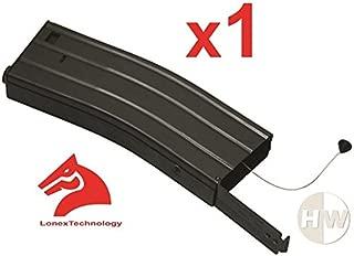 LONEX Airsoft M4 M16 Scar Metal Black Flash Magazine MAG 360RDS ASG Pull Cord
