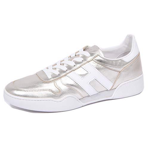 Hogan 1104J Sneaker Donna Platinum H357 Scarpe metallic Effect Shoe Woman [40]
