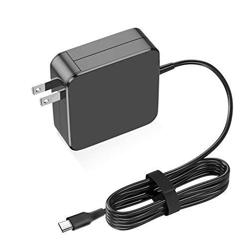 Replacement Laptop Charger, 61/65W USB C Charger Power Adapter for MacBook Pro 13/12 Lenovo, ASUS, Acer, Dell,Matebook, HP, Thinkpad and Any Other Laptops with The Type C