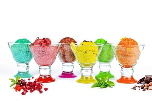 6helado con patas multicolores cuencos de hielo cuencos Copas de helado Cristal Mix
