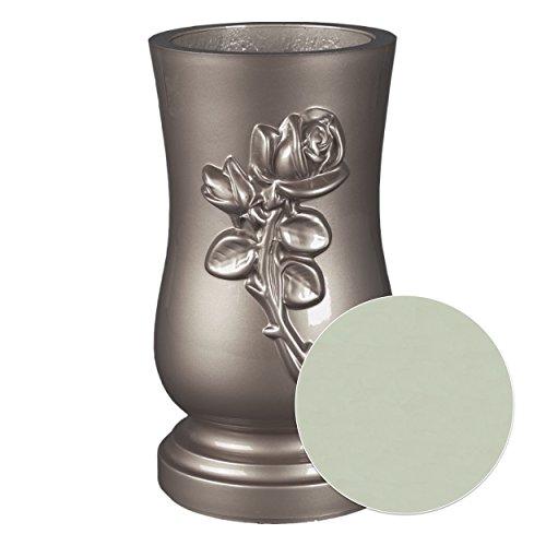 pajubo Vaso Rosea Ø 15cm altezza 27cm argento