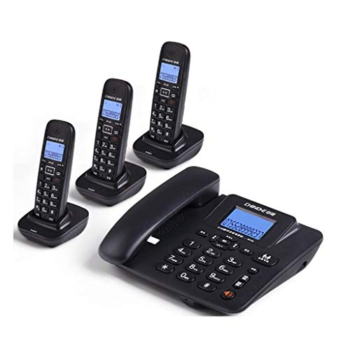 WDWL Digital Cordless Telephone Office Home Wireless Fixed Telephone Base Machine WD (Color : Black, Size : D)