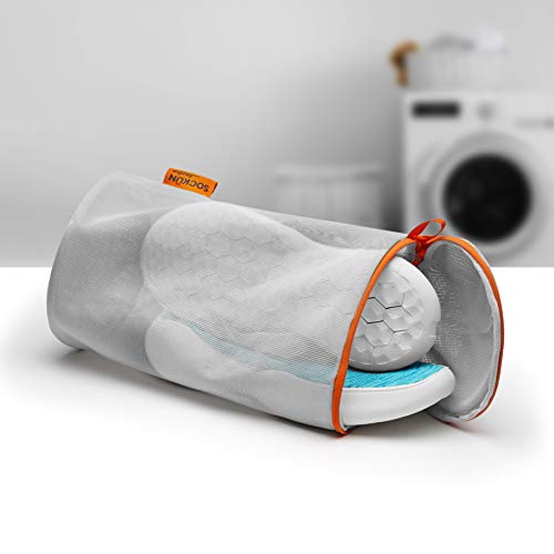 Jazba Shoe Wash Bag, Sneaker Mesh Laundry Dryer Bags for Washing Machine with Premium Zipper, Best for Knitted Sock Shoes Cotton Woven House Slippers Delicates Clean, Easy to Carry for Travel, M