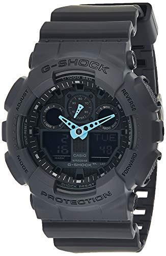 Casio G-SHOCK Reloj Analógico-Digital, 20 BAR, Gris, para Hombre, GA-100C-8AER