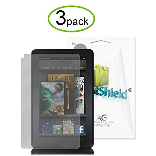 GreatShield Ultra Anti-Glare (Matte) Clear Screen Protector Film for Amazon Kindle Fire, 3 Pack (Does Not Fit Kindle Fire HD)