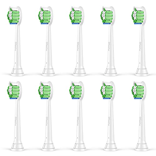 Ersatzbürsten Für Philips Sonicare Elektrische Zahnbürste: 10 Stück Aufsteckbürsten Kompatibel mit Phillips Sonicare DiamondClean ProResults FlexCare EasyClean HealthyWhite Weiß Bürstenkopf