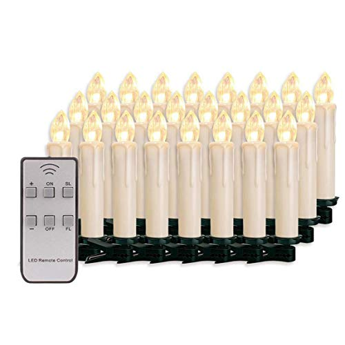 Candle Light Electronic Led Candles Light Decorative Remote Control Candles Smokeless Decoration 30pcs