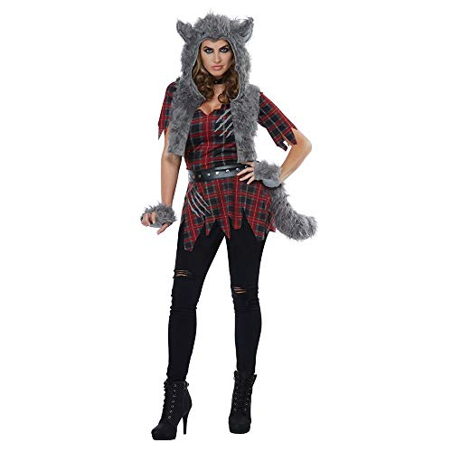 California Costumes Women's She-Wolf-Adult Costume, RED/Gray, Large