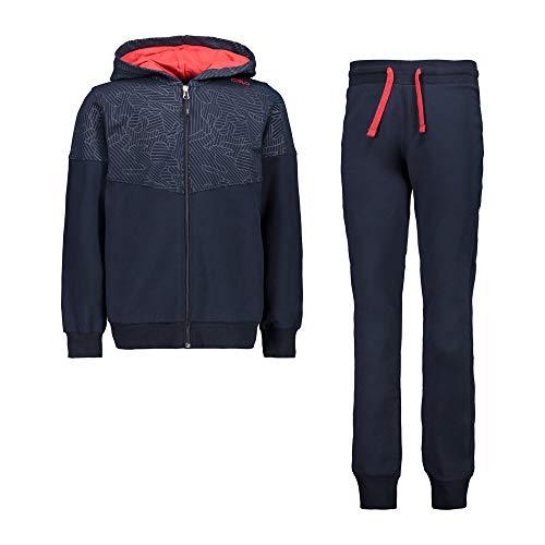 CMP Chándal Stretch (sudadera y pantalones) Niño, Black Blue, 128, Black Blue