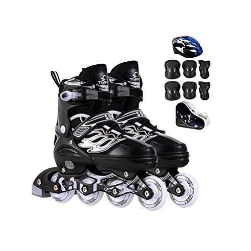 Taoke Inline-Skates, Erwachsene einreihig Skates Professionelle Männer und Frauen Adjustable Skates Full Set Voll Flash (Farbe: # 3, Größe: Extra große Modelle (42-45yards)) dongdong