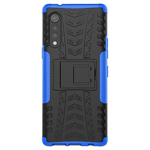 COTDINFORCA Compatible with LG Velvet Case Glitter Bling with Card Holder and Stand Leather Flip Wallet Diamond Butterfly Shockproof Protective Case for LG Velvet//LG Velvet 5G Crystal Blue