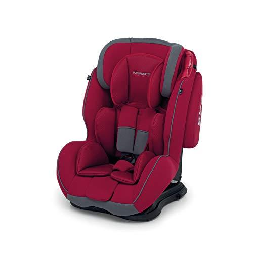 Foppapedretti Dinamyk 9-36 Seggiolino Auto, Gruppo 1/2/3 (9-36 Kg) per Bambini da 9 Mesi a 12 Anni Circa, senza Dispositivo Antiabbandono, Rosso