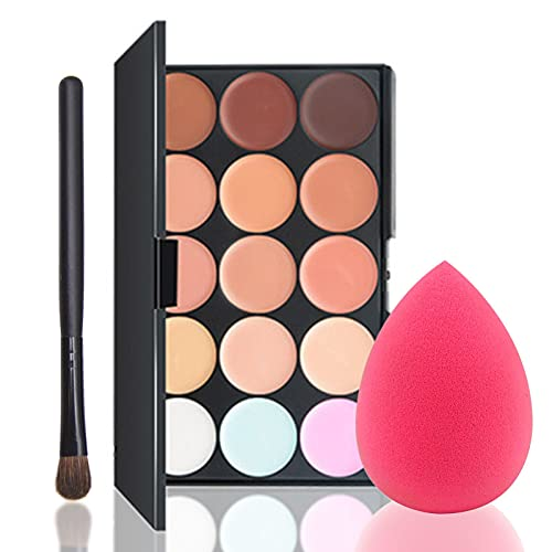 Concealer Palette 15 Colors Makeup Palette...