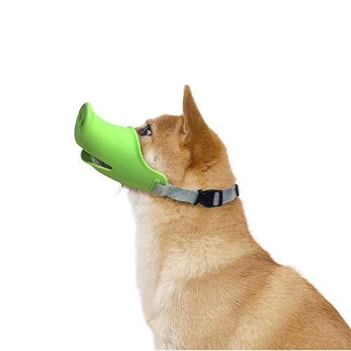 Anti Biss Dog Silikonmaske Maulkörbe für das Beißen Kauen, Hund Anti Beißen/Bellen Maulkorb Lustige Schwein Mundform Welpen Maulkörbe Masken für kleinen Hund,S
