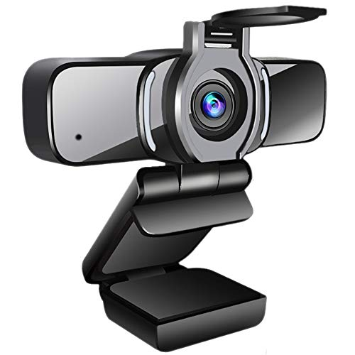 LarmTek - Cámara web HD 1080p con obturador de privacidad, cámara web para ordenador portátil, con micrófono,...