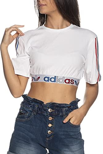 adidas GN6979 Tee PRIMEBLUE T-Shirt Donna White 42