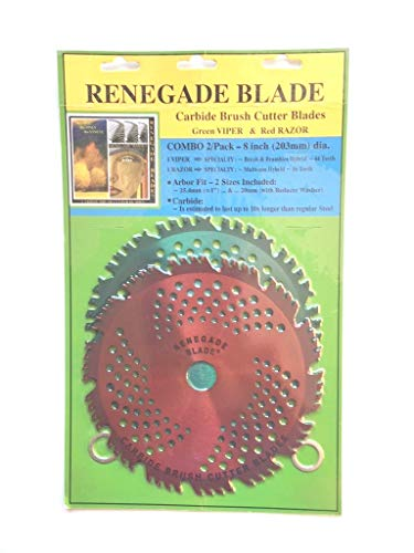 Review Renegade Blade 2pk-8-44t/56t Combo Pack - (1) 44t Green Viper (1) 56t red Razor - Hybrid Pac...