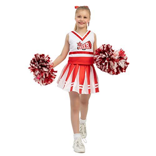 Spooktacular Creations Child Girl Cheerleader Costume (Medium) Red