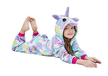 Riverchan Kids Unicorn Onesie Animal Pajamas Halloween Costume  4 Year