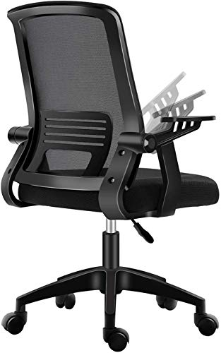 PatioMage Office Chair Ergonomic Mesh Computer Chair Lumbar Support Comfortable Task Chair Desk Chair for Adults Men Women. (Black)