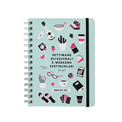 Mr. Wonderful Diario scolastico sketch 2021-2022 Vista settimanale - Settimane eccezionali e weekend spettacolari, Multicolore