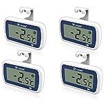Refrigerator thermometer Fridge and freezer thermometer - Refrigerator Digital thermometer in freezer thermometer Room thermometer,Dust and Waterproof,Alarm,Easy, Light-sensitive large Display