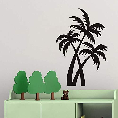 BailongXiao Kokospalme Pflanze wandaufkleber für Wohnzimmer abnehmbare braune vinylpalme wandtattoo für hauptdekoration 59x88 cm