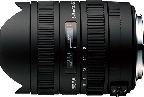 Sigma 8-16mm f/4.5-5.6 DC CAF - Objetivo para Canon (Distancia Focal 8-16mm, Apertura f/4) Color Negro