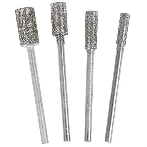 kengbi Diamante Recubierto rectificado Cabeza de molienda Rebabas Conjunto Cabeza de molienda de Diamante, 1pc 3/4 / 5 / 6mm 2.3 Muelle de manso de Diamante Pulido Metal Pulido de Pulido eléc