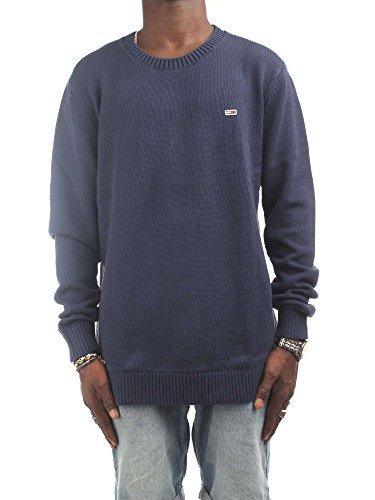 Tommy Jeans Herren Tommy Classics Langarm Langarmshirt Blau (Black Iris 002) Large