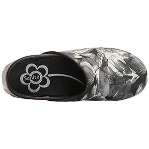 Sanita Women's Smart Step Sharon Work Shoe, Black, 37 EU/6.5 M US