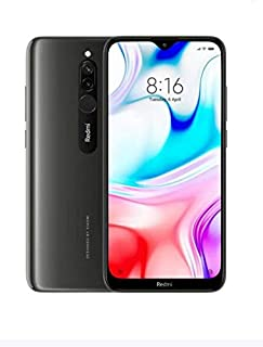 هاتف ريدمي 8 ثنائي الشريحة لون أسود بذاكرة داخلية سعة 64 جيجابايت وذاكرة رام سعة 4 جيجابايت، ويدعم تقنية 4G LTE