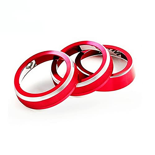 SUKLIER Aluminum Alloy Car Air Conditioner Adjust Knob Switch Decoration Ring Trim For Suzuki Jimny 2019+ Car Styling Accessory 3pcs/Set