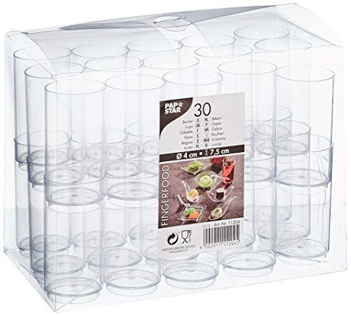 PAPSTAR 11204 30 Fingerfood Becher 0.06 L Ø 4 x 7.5 cm, glasklar