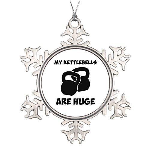 EvelynDavid Snowflake Ornament Metal Ornaments...