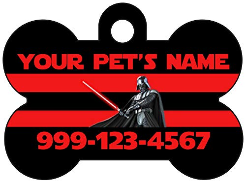 Disney Star Wars Darth Vader Custom Pet Id Dog Tag Personalized for Your Pet (Black)