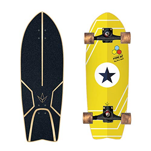 Skateboard 29' Carver Surf Skateboard Professional Pumping, 7-Story Canadian Maple Deck, Complete Urban Road Land Cruisers, Suitable for Adults, Children, Girls,No.1