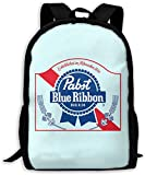 TTmom Mochilas Tipo Casual,Bolsa de Viaje Pabst Blue Ribbon Beer Logo Unisex Backpack Shoulder Bag School Backpack Travel Bags Laptop Backpack