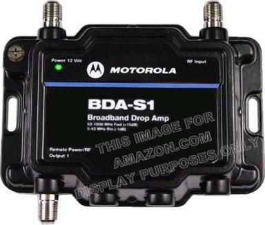 Motorola Signal Booster BDA-S1 1-Port Cable Modem TV HDTV Amplifier