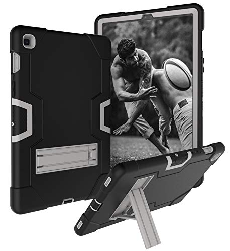 for Galaxy Tab S5e 10.5' 2019 Case, Drop+Shock Protection Stand Hybrid Defender Protective Full Body Case Cover Fit for Samsung Galaxy Tab S5e 10.5 Inch SM-T720/T725 2019 Model (B Black/Grey)