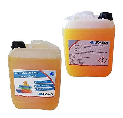 Flüssigwaschmittel Vollwaschmittel 2x10 L orange Melone